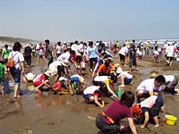 大竹海岸の混雑