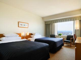 ホテルエミシア札幌 約24平米のスタンダードツイン。シェラトン・スイート・スリーパーベッドで快眠を