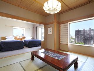 ホテルエミシア札幌 和洋室はのんびり過ごせると家族連れに好評。特に小さなお子様のいるママも安心