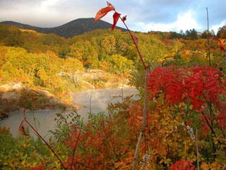 酸ケ湯温泉旅館 毎年10月上旬から中旬、周辺は錦秋に染まります