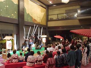 花巻温泉 ホテル紅葉館 宿泊すると無料で楽しめる「おまつり広場」(休演日有)