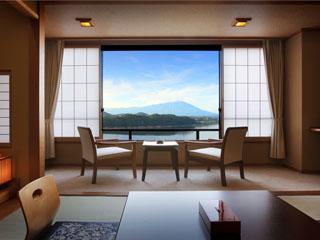 ホテル紫苑 全室、湖側のお部屋