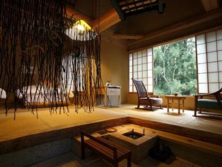 温泉山荘 だいこんの花 全18室の離れ、設えはそれぞれ異なります