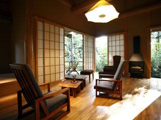 温泉山荘 だいこんの花 全18室の離れ。設えはそれぞれ異なります