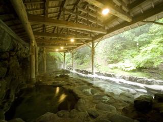 鷹泉閣 岩松旅館 作並温泉発見の伝説が語り継がれている天然岩風呂