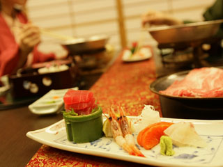 伝承千年の宿 佐勘 ご夕食は、お部屋、個室会食場、ダイニングレストランをお選びいただけます