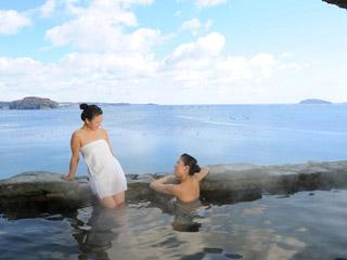 南三陸ホテル観洋 志津川湾を一望できる絶景露天風呂(温泉)