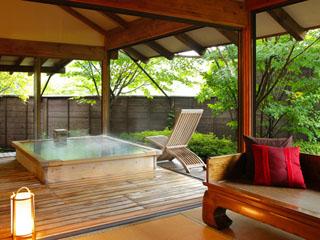 鬼怒川プラザホテル 貸切風呂「ほおずき亭」一例