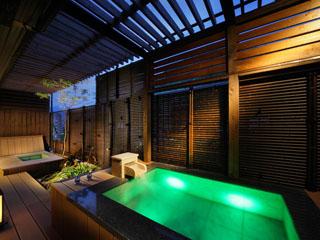 鬼怒川プラザホテル 露天風呂付客室「翠」一例