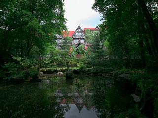 ホテルグリーンプラザ軽井沢 欧風のお城のような外観
