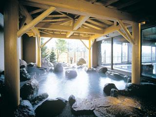 ホテル櫻井 体を芯から温める源泉「綿の湯」 にごり湯の露天風呂