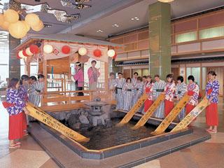 ホテル櫻井 宵のお楽しみ。ホテル櫻井名物湯もみショー