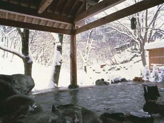 金盛館せゝらぎ 冬雪を楽しむ混浴露天風呂
