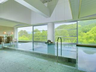 水上高原ホテル200 ホテル棟大浴場はpH9.26のつるすべ「美肌の湯」