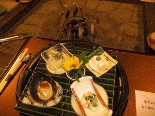 囲炉裏の御宿 花敷の湯 囲炉裏深山懐石料理です