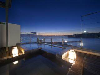 満ちてくる心の宿吉夢 太平洋を望む地上35mの天空露天風呂