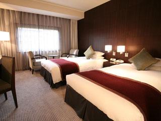 ホテルメトロポリタンエドモント 重厚感があり、寛ぎの空間を提供する、ツインルーム