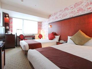 メルキュールホテル銀座東京 レディースツイン:赤を基調とした女性限定ルーム