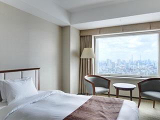 小田急ホテルセンチュリーサザンタワー 四季折々で変化する新宿御苑の木々をご覧いただける「スーペリアタイプ」のお部屋