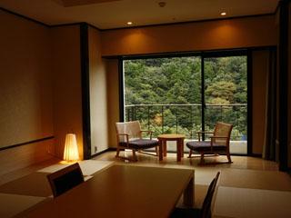 小田急 ホテルはつはな 客室からは雄大な湯坂山の眺めを楽しめます
