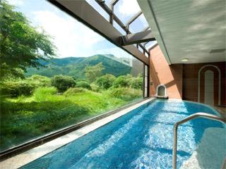 箱根仙石原プリンスホテル 大浴場の源泉は箱根十七湯のひとつ、姥子温泉です