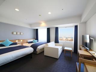 横浜桜木町ワシントンホテル スーペリア海側ファミリールーム ツインセット