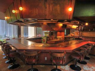 吉池旅館 ステーキハウス吉池では鉄板焼きをご賞味頂けます