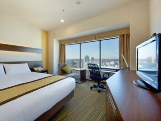 新横浜プリンスホテル 広めのベッドで好評のコンフォートシングル