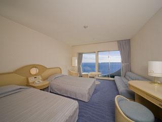 大磯プリンスホテル 相模湾を一望いただけるお部屋(ツインルームB)