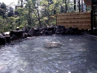 箱根ホテル小涌園 箱根の森の小川の流れる美しい庭園内にある露天温泉「せせらぎの湯」