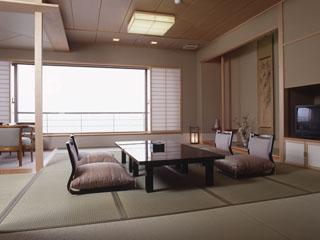 大観荘せなみの湯 客室の一例「そよ風館」 日本海が一望できるグレードアップ客室