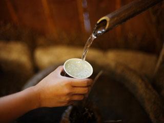 風雅の宿長生館 万病の湯とも呼ばれるラジウム温泉を飲む「飲泉所」