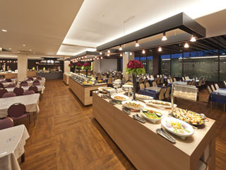 ホテルふじ 2011年にリニューアルしました、バイキング会場「dining Hestia」