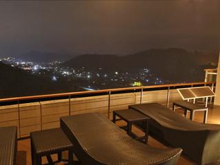 ホテルアソシア高山リゾート 温泉棟 テラスからの夜景