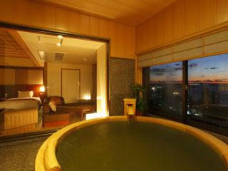 ホテル九重 温泉展望風呂付客室/時間を気にせず、お部屋でのんびり天然温泉三昧