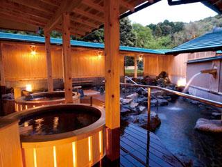 サン浦島悠季の里 大浴場 内の宮(女性用)露天