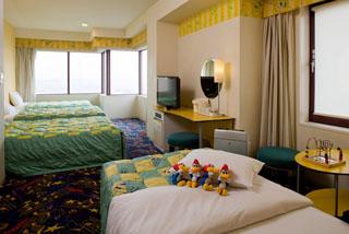 ホテル近鉄ユニバーサル・シティ ウッディ―・ウッドペッカーTM達がデザインされたかわいいキャラクタールーム