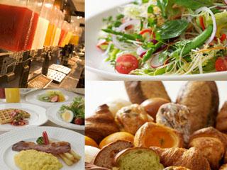 ホテル日航大阪 カフェレストランの朝食。40種類以上の豊富な和・洋メニューをバイキング形式で