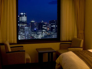 大阪第一ホテル スーペリアルームからの夜景(一例)