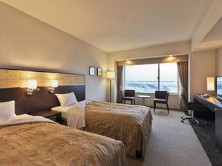 シーサイドホテル舞子ビラ神戸 シンプルで落ち着いたインテリアのツインルーム