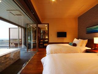 ホテル金波楼 プライベート感あふれるプレミアムフロア渚の館。時じく客室(全5タイプ)