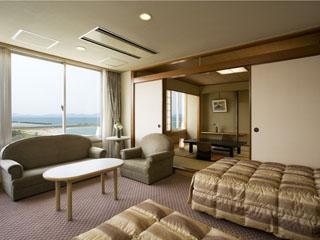 皆生グランドホテル天水 客室一例(和洋室タイプ)