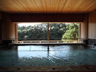 大谷山荘 大浴場半露天