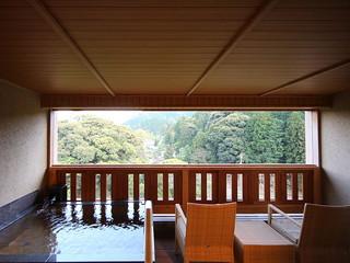 大谷山荘 客室露天風呂
