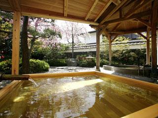 萩城三の丸 北門屋敷 季節の花を愛でながら、はぎ温泉を愉しむ露天風呂