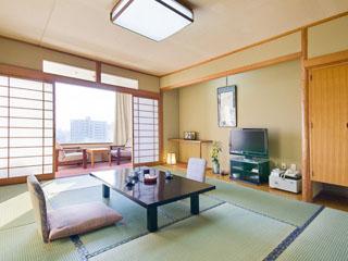 道後御湯(旧:宝荘ホテル) 和の雰囲気の客室でゆっくりとお過ごしいただけます