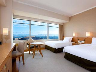 ヒルトン福岡シーホーク ほとんどのお部屋では高層階の眺望もお楽しみいただけます