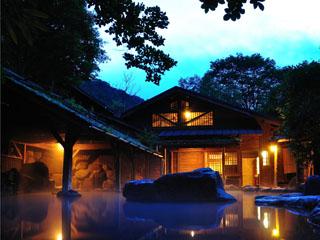 やまびこ旅館 自慢の仙人風呂は大と小が日替わりになっております