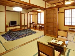 やまびこ旅館 8帖から和洋室、和室2間と客室はそれぞれ趣が違います