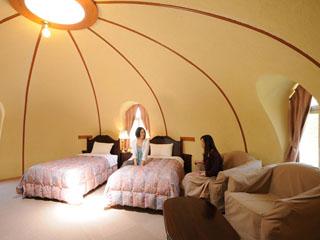 阿蘇ファームヴィレッジ(阿蘇ファームランド) 室内には一切カドがなく、まぁ~るいお部屋で心も和む